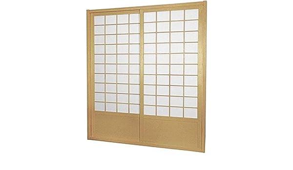 Muebles Oriental Zen Shoji Puerta Corredera Kit, Doble Cara Natural: Amazon.es: Hogar