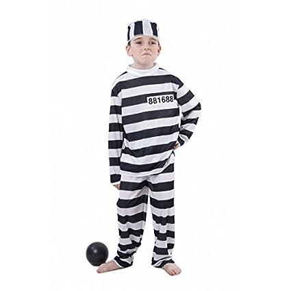 Disfraz de preso para niño o niña: Amazon.es: Juguetes y juegos