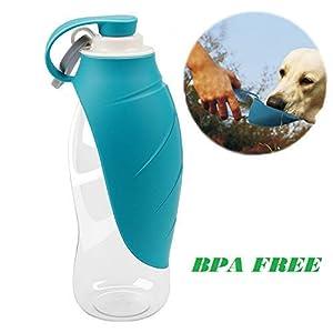 Foldable Portable Travel Pet Dog Plastic Water Drinking, Feeding Bottle, Bowl, Leak Proof, BPA Free Water Dispenser for East-European Shepherd 21