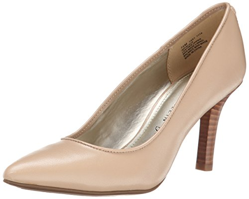 Anne Klein Women's Falicia Leather Dress Pump - Natural -...