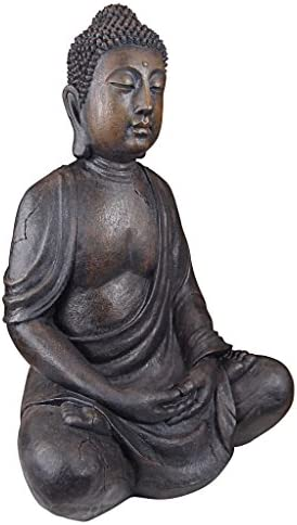 Amazon Com Design Toscano Meditative Buddha Of The Grand Temple Large Sized Garden Statue Garden Outdoor