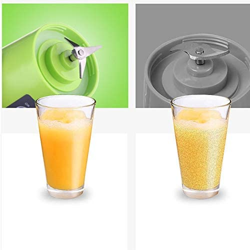 2/4 cuchillas Mini USB recargable portátil eléctrico exprimidor de frutas batidora licuadora máquina botella deportiva jugo taza - verde 4 cuchillas