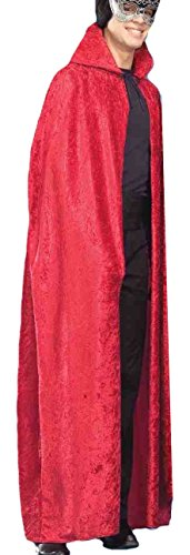 Velvet Riding Hood Adult (Forum Novelties 56-Inch Red Velvet Cape, Red, One Size)