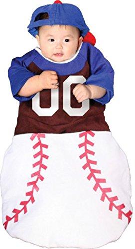 Morris Costumes baby Baseball style bunting matching ball cap costume