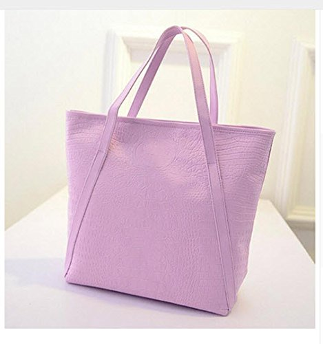 Casual Women Shoulder Bags PU Female Big Tote Bags for Ladies Handbag Large Capacity sac a main femme de marque (Taro - Prices Watches Prada