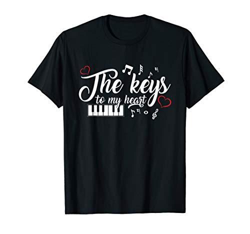 The Keys To My Heart T-Shirt Cute Piano Lover Keyboard - Key To My Heart Tee