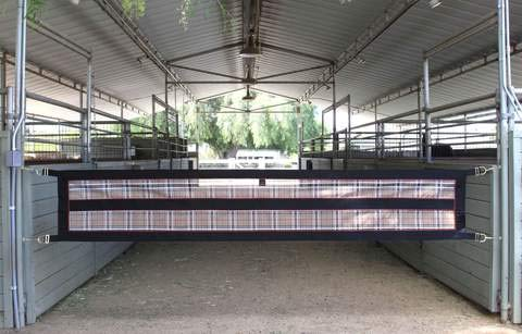 Kensington Aisle Guard for Horses - Designed to Keep Horse Securely in Barn Aisle -  Adjustable Straps and Hardware Included