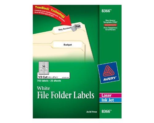 Avery Folder Labels Inkjet Printers