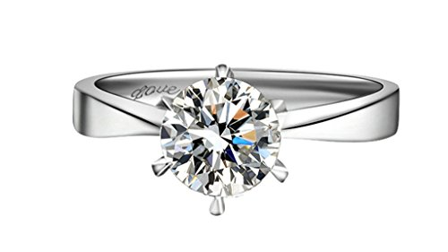 Used, AnaZoz Womens Promise 925 Sterling Silver 1ct Diamond(Lab for sale  Delivered anywhere in Canada