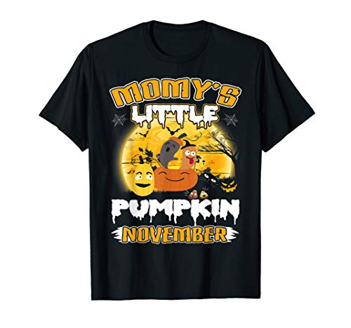 (Mommy's Little Pumpkin Halloween Pregnancy Costume Tshirt)