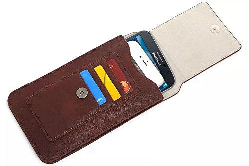 Bolso multifuncional de la bolsa del cinturón de la capa de la caja del teléfono móvil con el mosquetón del lazo para 6.3 pulgadas ( Color : Blue ) Coffee