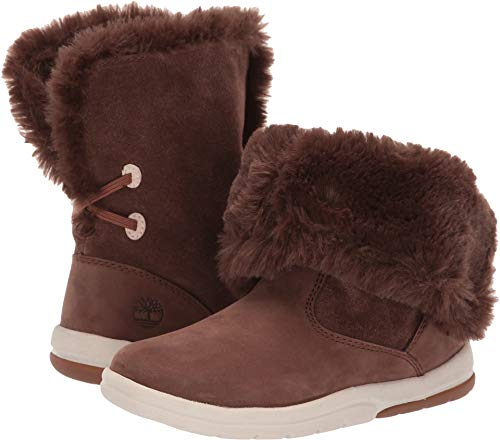 - Timberland Baby Toddle Tracks Faux Shearling Bootie Fashion Boot Dark Brown Nubuck 11.5 Medium US Toddler