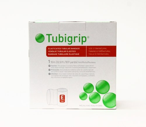 - Tubigrip Size E - Tubular Bandage - (Large Ankles, Medium Knees, Small Thighs)