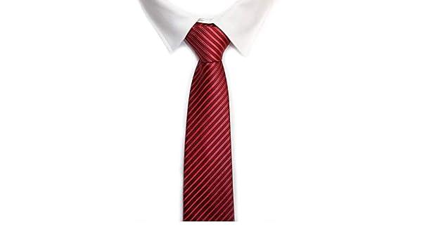 VIZENZO corbata roja rayas finas: Amazon.es: Ropa y accesorios