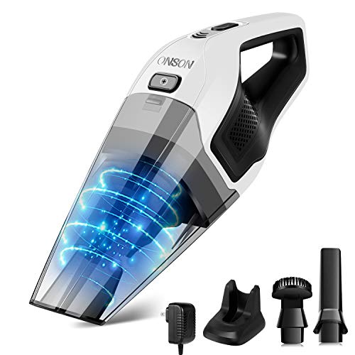 Handheld Vacuum, ONSON Hand Vacuum Cleaner Cordless with 14.8V Li-ion Battery, 7Kpa Powerful Rechargeable Wet Dry Vacuum for Cars, Furniture Stairs and Pet Hairs