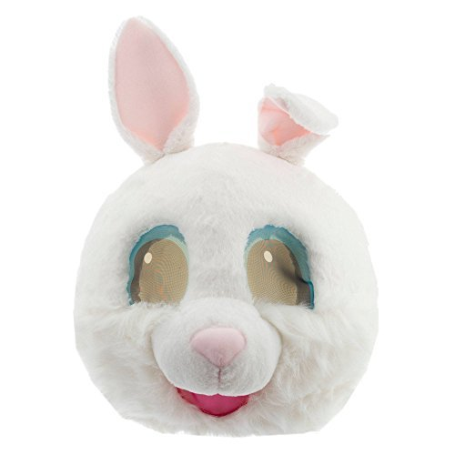 Maskimals White Bunny Large Plush Head Mask -
