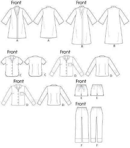 lot de 1 ceinture Shorts et pantalons pour femme 14 Tops Blanc 10 12 McCalls Patterns m6659/Patrons B5/8 16/Patrons de robe