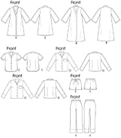 Size B5 McCall Patterns M6659 Misses Robe//Belt//Tops//Shorts and Pants Sewing Template 8-10-12-14-16