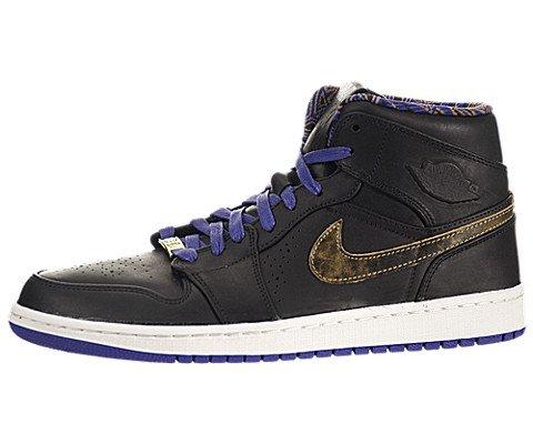 Nike Air Jordan 1 Mid Nouveau BHM - Black Court Purple (629151-009) US Mens Size 10