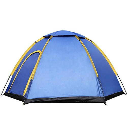 Outdoor 3-4 People Camping Tent Instant Pop-up Waterproof Large Family Sunshade - Camping Tent & sunshade - 1 x Camping Tent