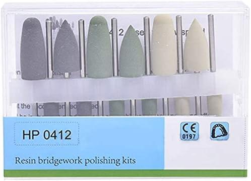 Resin Base 12PCS Silicone Grinding Heads Hidden Denture Polishing Kits