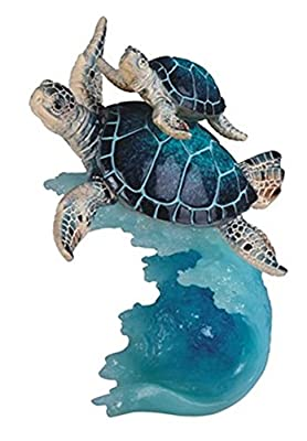 """StealStreet SS-G-90141 8.75"""" Sea Turtle Swimming with Baby - Collectible Figurine Statue"""
