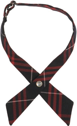 French Toast Adjustable Plaid Cross Tie Girls Navy Red Plaid One Size (School Uniform Ties Girls compare prices)