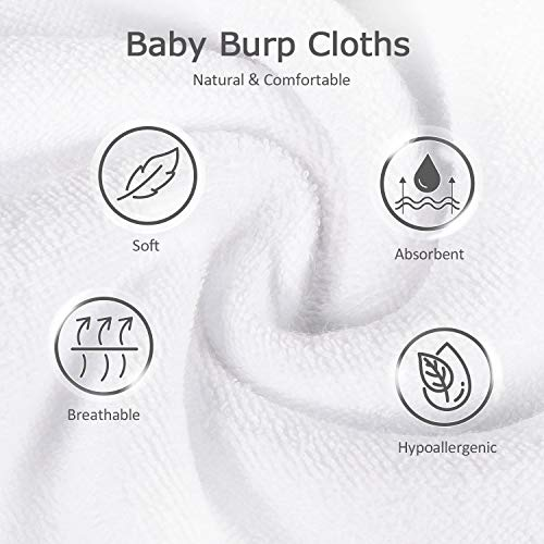 "Baby Burp Cloths, Momcozy 6 Pack Burp Towels, Newborn Burping Rags, Soft and Absorbent Spit Up Cloths, 20""x10"""