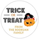 Personalized Halloween Party Stickers Halloween Decor Printable Party Circles Printable Halloween DecorStickers Trick Or Treat