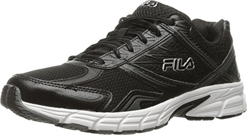 Fila Men's Royalty 2 Running Shoe, Black/Black/Metallic Silver, 11 M (Fila Athletic Shoes)