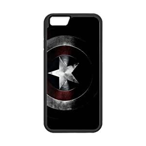 Classic Style Custom Silicone Hard Rubber Protector Case for iPhone6(4.7inch) - Captain America Case by mcsharks