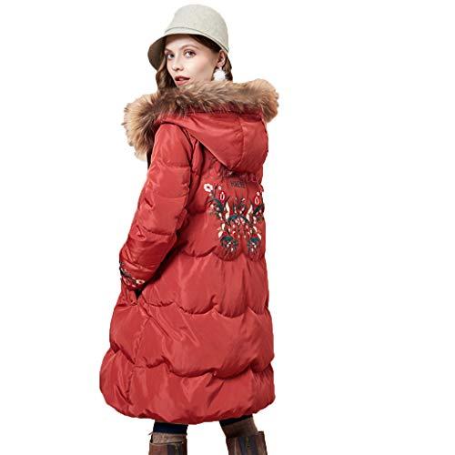 color D'anatra Sezione Donna Cappotti A S Donna Red Giubbotto Da Bianco Bianca Ansima Giacca E Piumino Larga Lunga Pelliccia 90 giacche Size Basso Collo In Bianca 1Fr1nqvT
