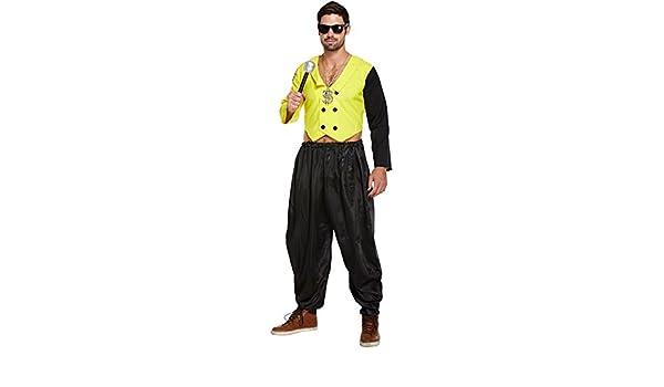 Disfraz De Rapero años 80 Para Adulto (Amarillo): Amazon.es ...