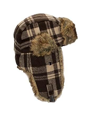 Amazon.com: RPI Buffalo Plaid Winter Trapper Hat Girls
