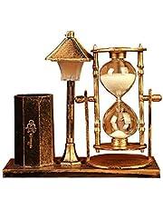 هدية بيضاء حامل القلم ساعة رملية حامل الرجعية الطابق مصباح مكتب صندوق ديكور من التخزين