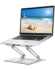 Usoun Laptopstandaard, laptophouder, multihoekstandaard met warmteopening, verstelbare notebookstandaard voor laptop tot 17 inch, compatibel voor MacBook Air, Pro, Dell, Samsung, Lenovo, Alienware