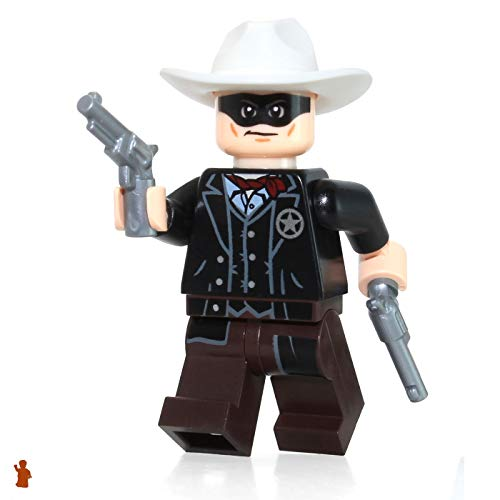 LEGO Minifigure: Lone Ranger with 2 Silver Revolvers (2013 Version)