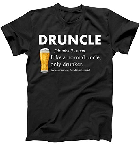 - Druncle Funny Uncle Definition T-Shirt Black Small