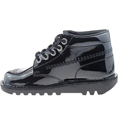 Kickers Damen Mädchen Leder schwarz Kick Hi School Schuhe kf0000120Größe UK 3