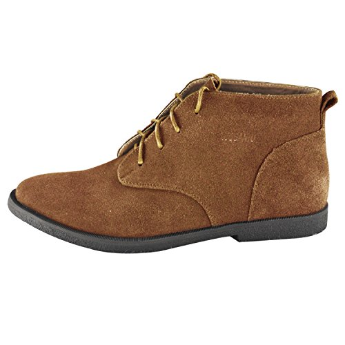 iLoveSIA Big Boys Suede Leather Desert Boots US Size 5.5 OakWood