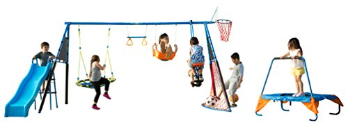 FITNESS REALITY KIDS 'The Ultimate' 8 Station Sports Series Metal Swing -