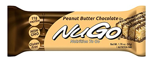 NuGo Protein Bar, Peanut Butter Chocolate,  1.76-Ounce Bars (Pack of 15)