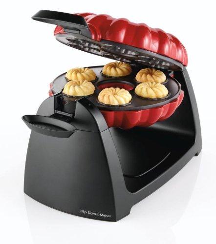 Sunbeam FPSBFDM922 Flip Donut Maker, Red/Black