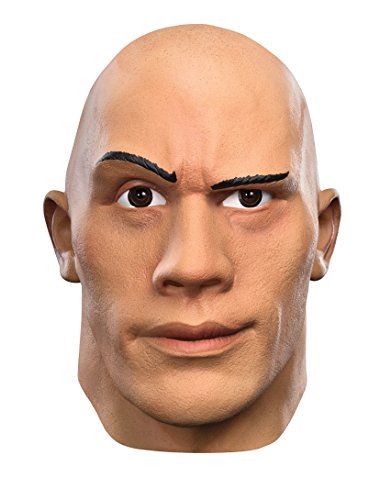 Disguise Men's the Rock Deluxe WWE Adult Mask, Multi, One -