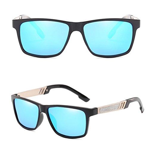 Zhhlinyuan pour en Polarisé Soleil Conduite UV400 Voyageant Des Lunettes Pour Soleil des Sunglasses Hommes Lunettes de Mens blue Protection Vacances des InP0IrqS6