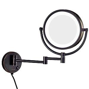 Amazon Com Gurun Led Lighted Wall Mount Makeup Mirror