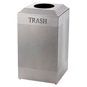 Rubbermaid Commercial Silhouettes Trash Can, 29 Gallon, Stainless Steel, FGDCR24TSS