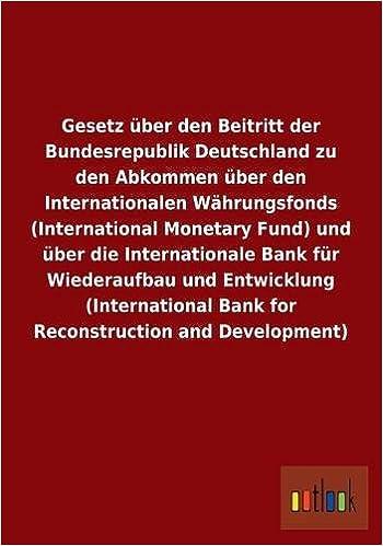 Amazon.com: Gesetz über den Beitritt der Bundesrepublik Deutschland ...