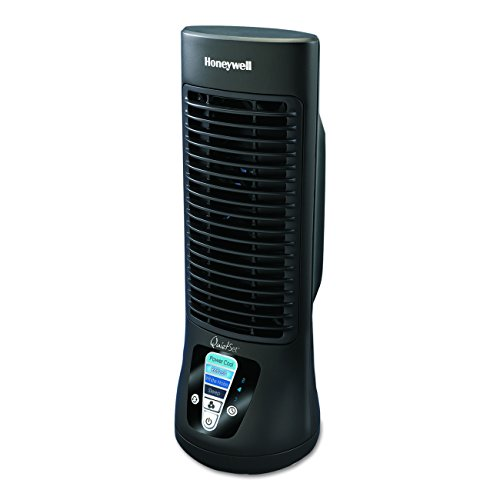 (Honeywell QuietSet Mini Tower Table Fan, HTF210B, 1 Pack, Black)