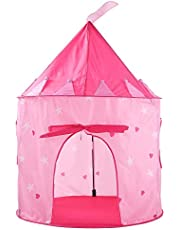 Kids Portable Outdoor Indoor Palace Castle House Play Tent Playhouse - Pink